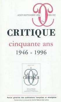 Critique, n° 591-592 -