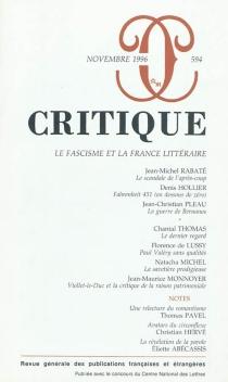 Critique, n° 594 -