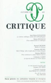 Critique, n° 605 -
