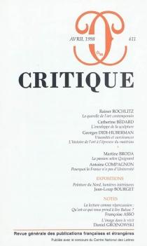 Critique, n° 611 -