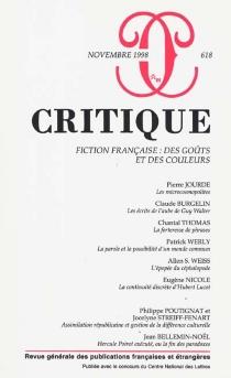 Critique, n° 618 -