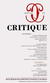 Critique, n° 634 -
