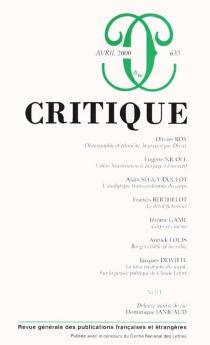 Critique, n° 635 -