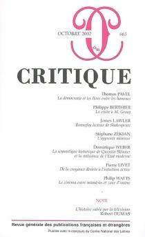 Critique, n° 665 -