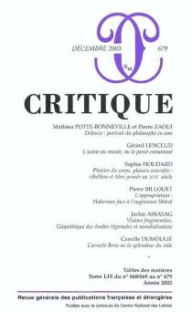 Critique, n° 679 -