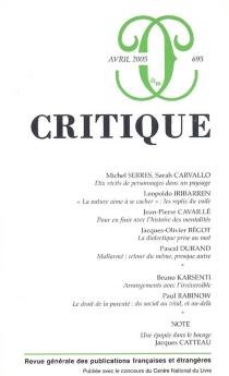 Critique, n° 695 -