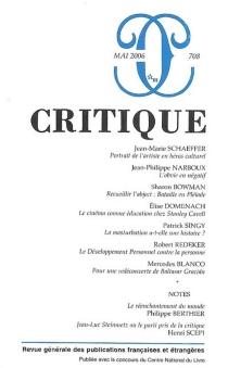 Critique, n° 708 -