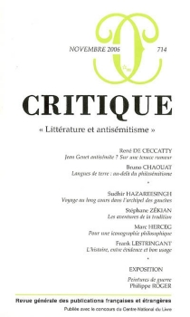 Critique, n° 714 -