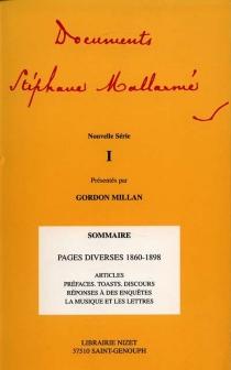 Documents Stéphane Mallarmé : nouvelle série - StéphaneMallarmé