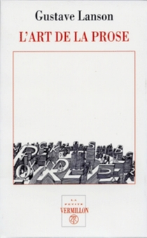 L'art de la prose - GustaveLanson