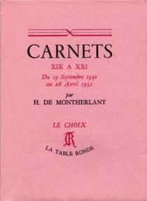 Carnets - Henry deMontherlant
