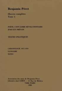 Oeuvres complètes - BenjaminPéret