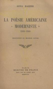 La poésie américaine moderniste (1910-1940) - SoniaRaiziss