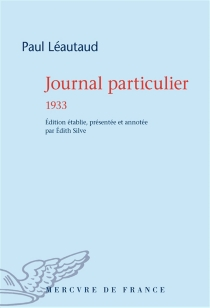 Journal particulier - Paul Léautaud