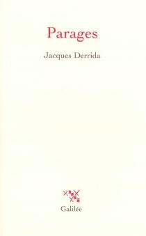 Parages - JacquesDerrida