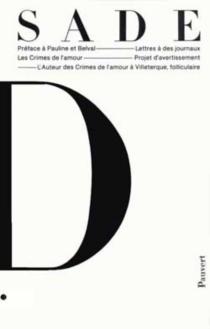 Oeuvres complètes - Donatien Alphonse François deSade