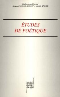 Etudes de poétique -