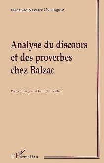 Analyse du discours et des proverbes chez Balzac - FernandoNavarro Domínguez