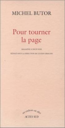Pour tourner la page : magazine à deux voix - MichelButor