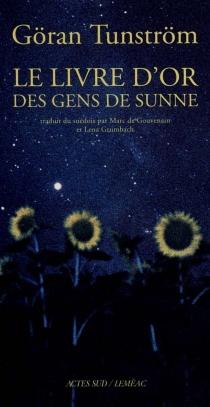 Le livre d'or des gens de Sunne - GöranTunström