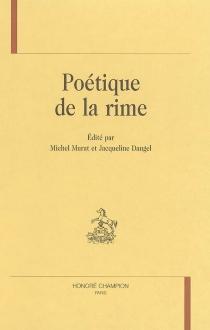 Poétique de la rime -