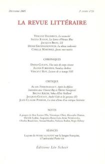 Revue littéraire (La), n° 21 -