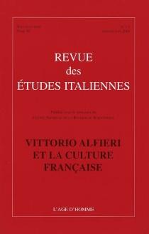 Revue des études italiennes, n° 1-2 (2004) -
