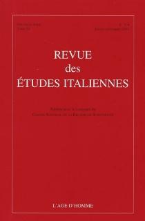 Revue des études italiennes, n° 3-4 (2004) -
