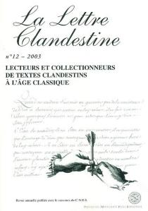 Lettre clandestine (La), n° 12 -