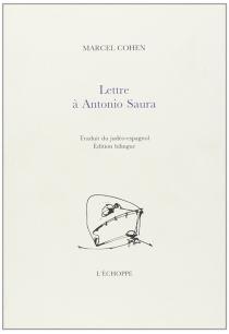 Lettre à Antonio Saura - MarcelCohen