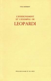 L'enseignement et l'exemple de Leopardi - YvesBonnefoy