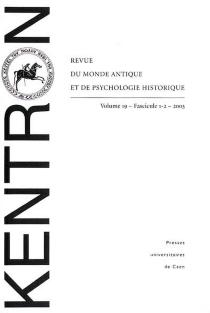 Kentron, n° 1-2 (2003) -