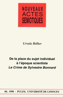 Nouveaux actes sémiotiques, n° 60 - UrsulaBälher