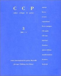 Cahier critique de poésie, n° 3 -