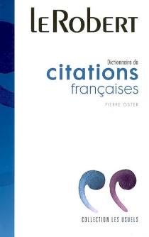 Dictionnaire de citations françaises -