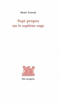 Sept propos sur le septième ange - MichelFoucault