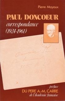 Paul Doncoeur, correspondance - PierreMayoux