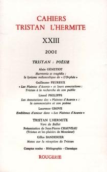 Cahiers Tristan L'Hermite, n° 23 -