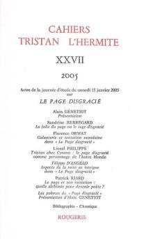 Cahiers Tristan L'Hermite, n° 27 -