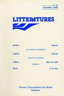 Littératures, n° 41 -