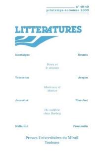 Littératures, n° 48-49 -
