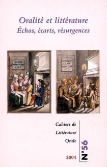 Cahiers de littérature orale, n° 56 -