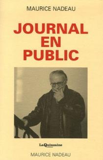 Journal en public - MauriceNadeau