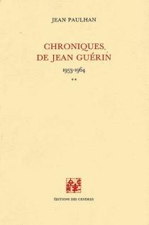 Chroniques de Jean Guérin - JeanPaulhan