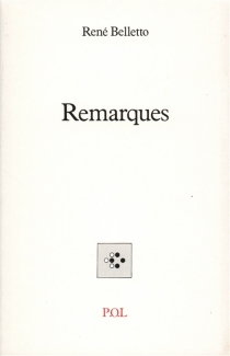 Remarques - René Belletto