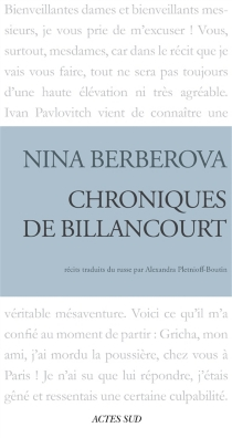 Chroniques de Billancourt - Nina NikolaïevnaBerberova