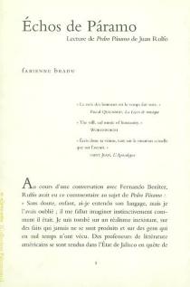 Echos de Paramo : lecture de Pedro Paramo de Juan Rulfo - FabienneBradu
