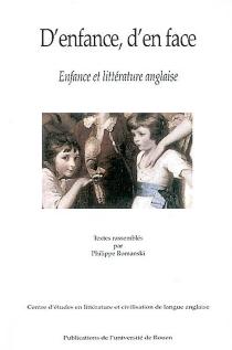 D'enfance, d'en face : enfance et littérature anglaise -