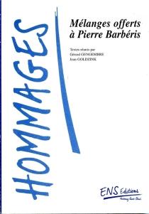 Mélanges offerts à Pierre Barbéris -