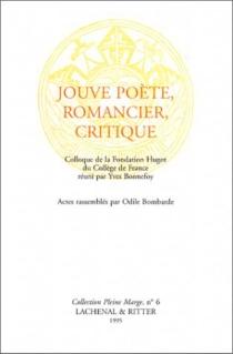 Jouve poète, romancier, critique -